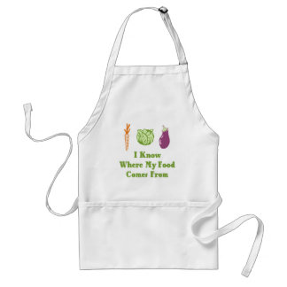I Know Where My Food Comes From Adult Apron