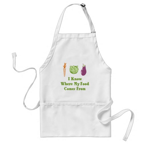 I Know Where My Food Comes From Apron