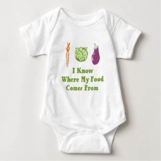 I Know Where My Food Comes From Baby Bodysuit