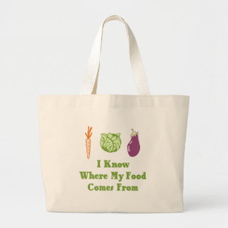 I Know Where My Food Comes From Tote Bag
