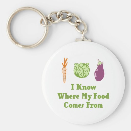I Know Where My Food Comes From Key Chains