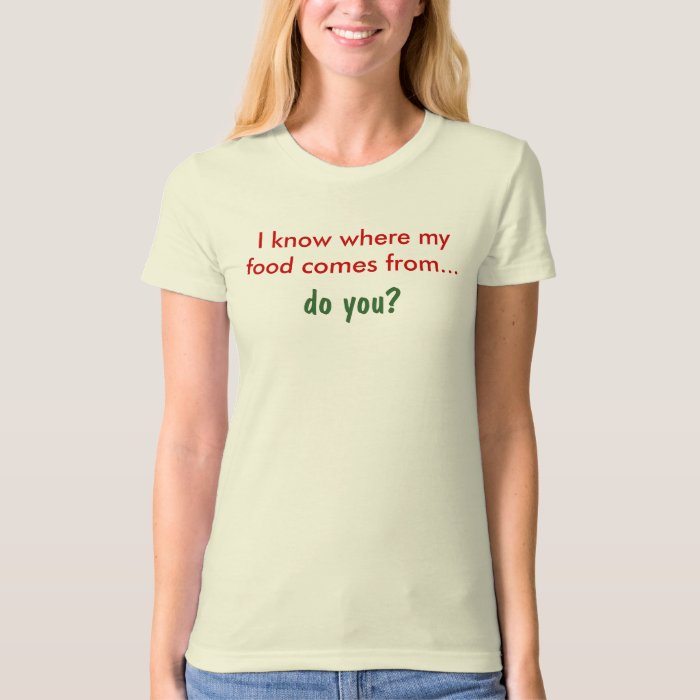 I know where my food comes from...Organic Tshirt