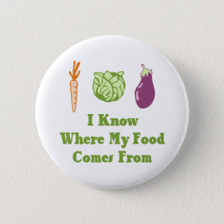 I Know Where My Food Comes From Pinback Button