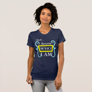 I Know Who I Am Jersey T-Shirt (Navy Blue)