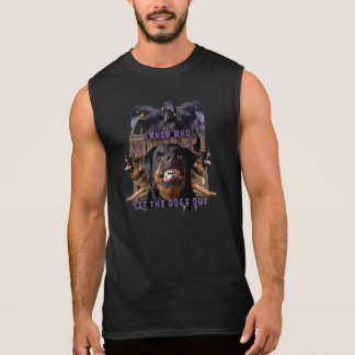 I know who let the dogs out! sleeveless shirt