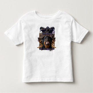 I know who let the dogs out! toddler t-shirt
