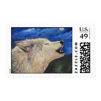 I KNOW WHY THE WOLF HOWLS POSTAGE STAMP