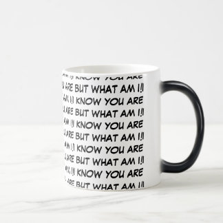 I KNOW YOU ARE BUT WHAT AM I! 11 OZ MAGIC HEAT Color-Changing COFFEE MUG