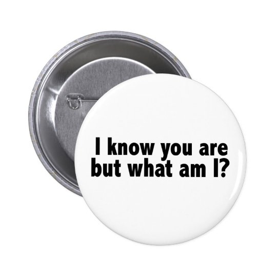 I Know You Are What Am I Button
