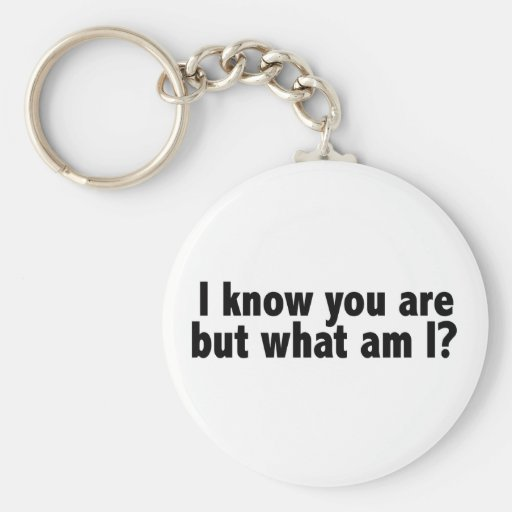 I Know You Are What Am I Keychains