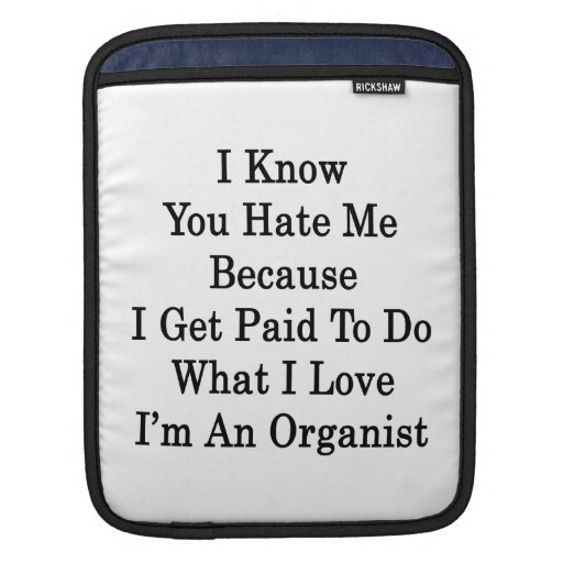 I Know You Hate Me Because I Get Paid To Do What I iPad Sleeve