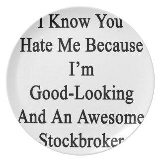 I Know You Hate Me Because I'm Good Looking And An Melamine Plate