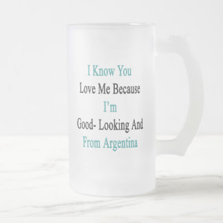 I Know You Love Me Because I'm Good Looking And Fr Frosted Glass Beer Mug