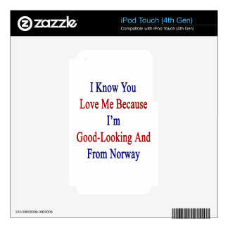 I Know You Love Me Because I'm Good Looking And Fr iPod Touch 4G Decal