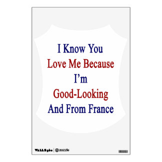 I Know You Love Me Because I'm Good Looking And Fr Wall Decal