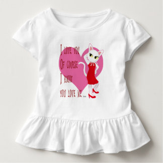I know you love me toddler t-shirt