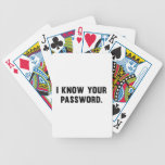 I Know Your Password Bicycle Playing Cards