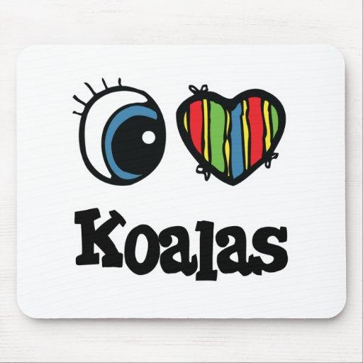 I koalas del corazón (amor) tapetes de ratón