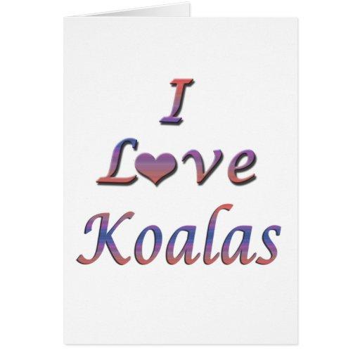 I koalas del corazón (amor) tarjeta de felicitación