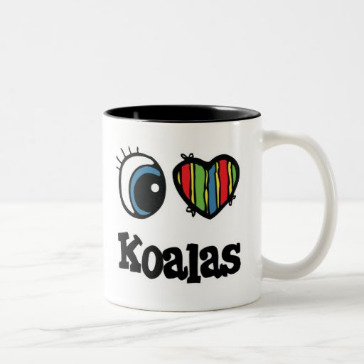 I koalas del corazón (amor) taza