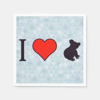 I koalas del corazón servilletas desechables