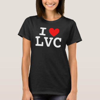 I la camiseta de las mujeres del corazón LVC -