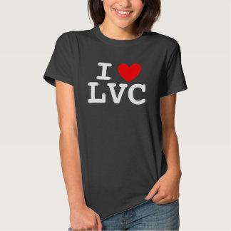 I la camiseta de las mujeres del corazón LVC - Poleras