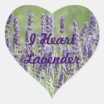 I la lavanda del corazón florece a los pegatinas calcomanías de corazones