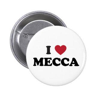 I La Meca la Arabia Saudita del corazón Pin Redondo De 2 Pulgadas
