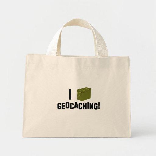 ¡I (la munición puede) Geocaching! Bolsa Tela Pequeña