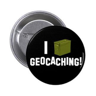 ¡I (la munición puede) Geocaching! Pin