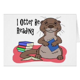 I la nutria esté leyendo tarjeta de felicitación