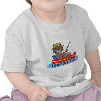 I la nutria esté pescando camisetas
