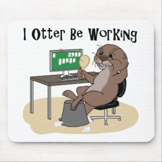 I la nutria esté trabajando mousepad