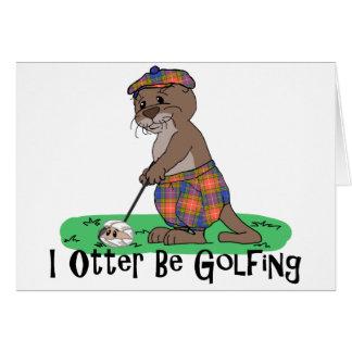 I la nutria Golfing Tarjeta De Felicitación