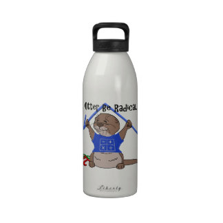 I la nutria sea radical botella de agua reutilizable