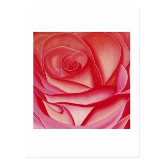 (i) la tarjeta color de rosa del arte postal