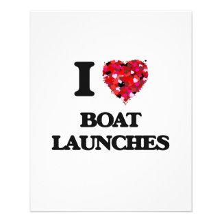 """I lanzamientos del barco del amor folleto 4.5"""" x 5.6"""""""