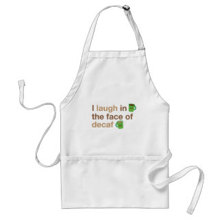 I laugh in the face of DECAF with cute coffee mugs Apron