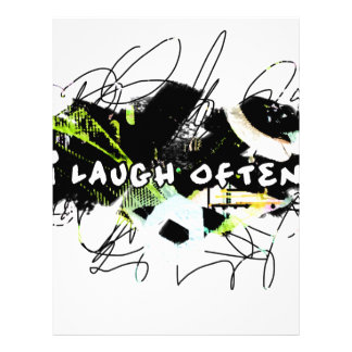 i laugh often.  Feel Good.Be Happy.Tell the World. Letterhead