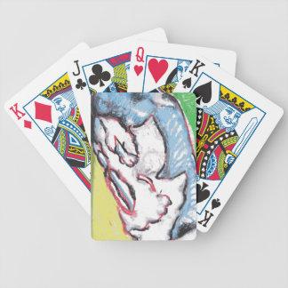 I Laugh Skeleton Bicycle Playing Cards