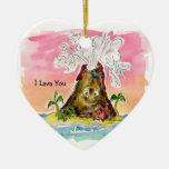 I lava usted adorno navideño de cerámica en forma de corazón