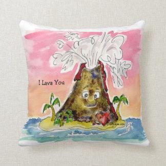 I lava usted almohada de tiro del volcán cojín decorativo