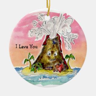 I Lava You Ceramic Ornament