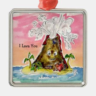 I Lava You Metal Ornament