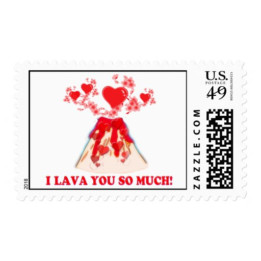 I Lava You Postage Stamps