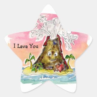 I Lava You Star Sticker
