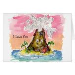 I Lava You Volcano Valentine Card