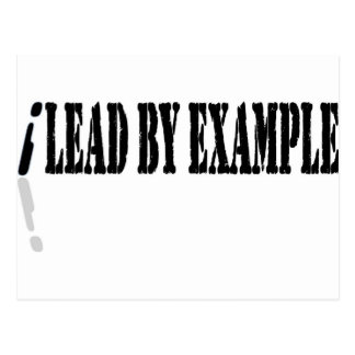 I Lead by Example Postcard