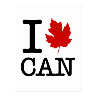 I Leaf (heart) Canada Postcard